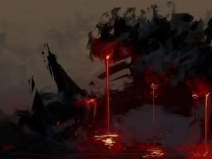 speedpaint_lava_falls_by_benedickbana-d7utc8h