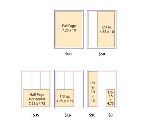 Ad Size Chart